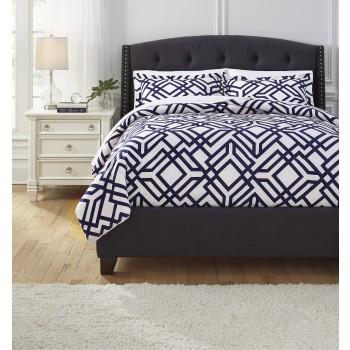 Imelda - Navy - Queen Comforter Set