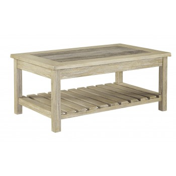 Veldar - Whitewash - Rectangular Cocktail Table