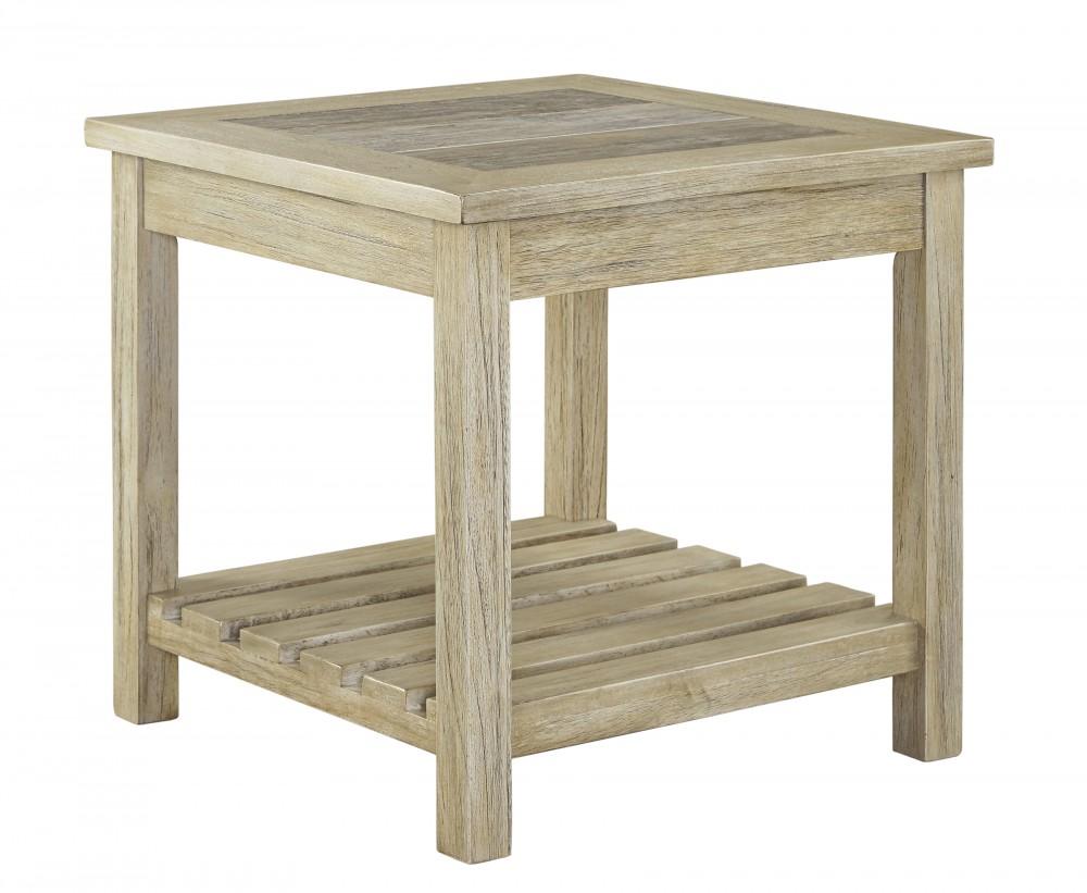 Veldar - Whitewash - Square End Table - Veldar - Whitewash - Square End Table T748-2 End Tables