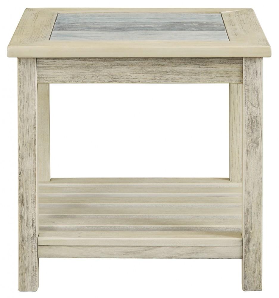 Veldar Whitewash Square End Table T End Tables - Ashley veldar coffee table