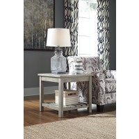 Veldar - Whitewash - Square End Table