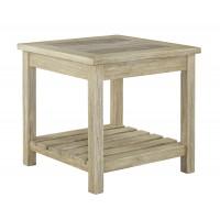Veldar - Whitewash - Square End Table