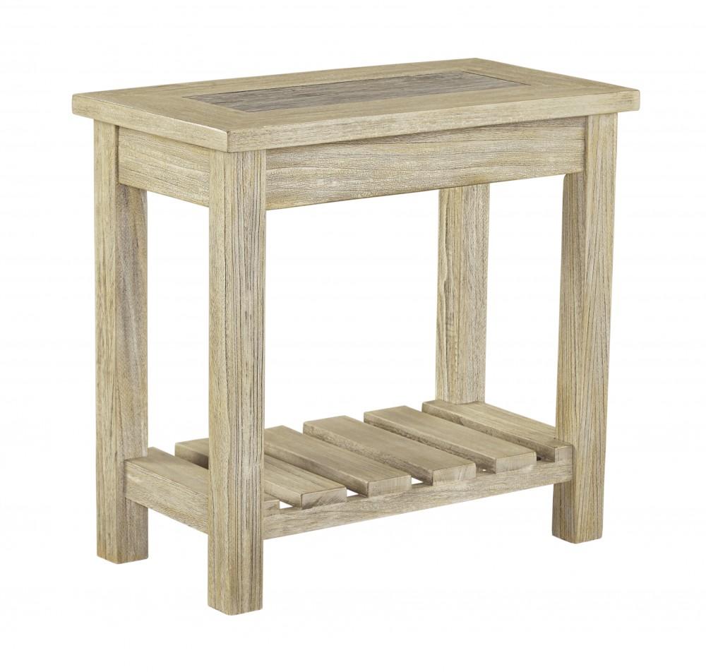 Veldar - Whitewash - Chair Side End Table - Veldar - Whitewash - Chair Side End Table T748-7 Chair Side