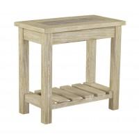 Veldar - Whitewash - Chair Side End Table