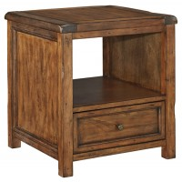 Tamonie - Medium Brown - Square End Table