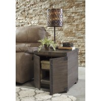 Burladen - Grayish Brown - Square End Table