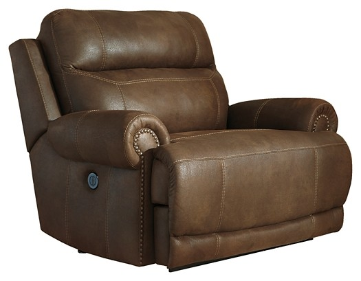 Austere - Brown - Zero Wall Power Wide Recliner