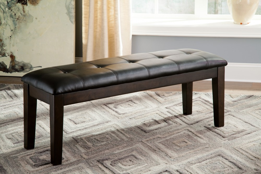 Haddigan - Dark Brown - Large UPH Dining Room Bench | D596-00 ...