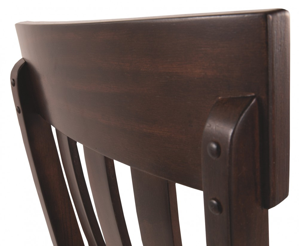 Haddigan Dark Brown Dining Uph Side Chair 2 Cn