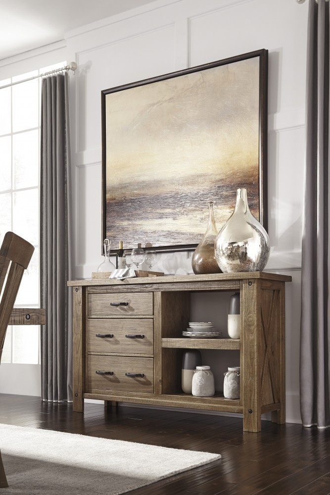 Tamilo   Gray/Brown   Dining Room Server