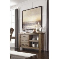 Tamilo - Gray/Brown - Dining Room Server