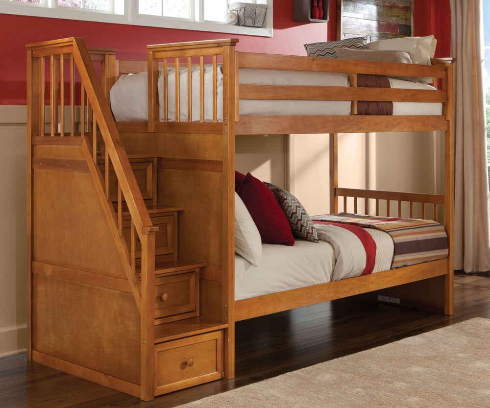 School House Staircase Bunk Bed Ne Kids 6090 Bunk Beds Brooks