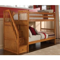 School House Staircase Bunk Bed