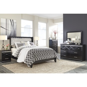 Fancee 4 Pc Bedroom - Dresser, Mirror & Queen Panel Bed