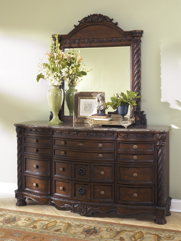 North Shore Dresser Mirror B Dresser Mirror BBs - Ashley furniture northshore bedroom set