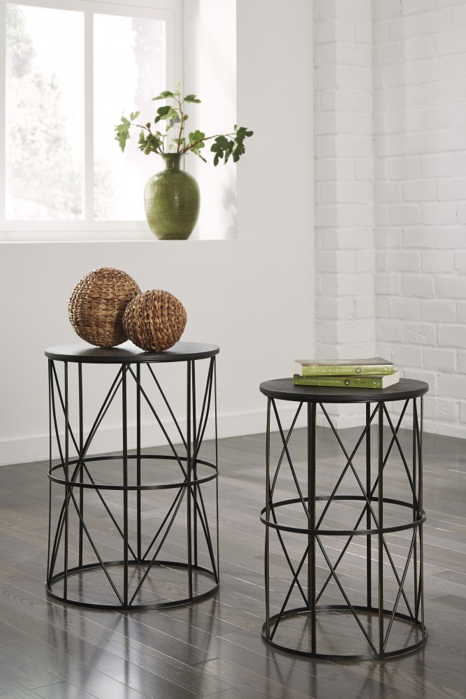 Marxim   Dark Bronze   Nesting End Tables (2/CN)