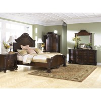 North Shore 5 Pc. Bedroom - Dresser, Mirror & Queen Panel Bed