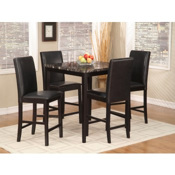 Palms 5 Pc. Black Pub Dining Set
