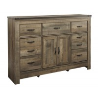 Trinell - Brown - Dresser with Fireplace Option