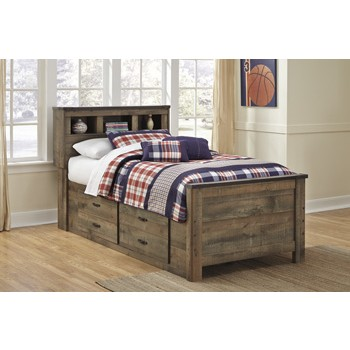 Trinell - Brown - Under Bed Storage w/Side Rail