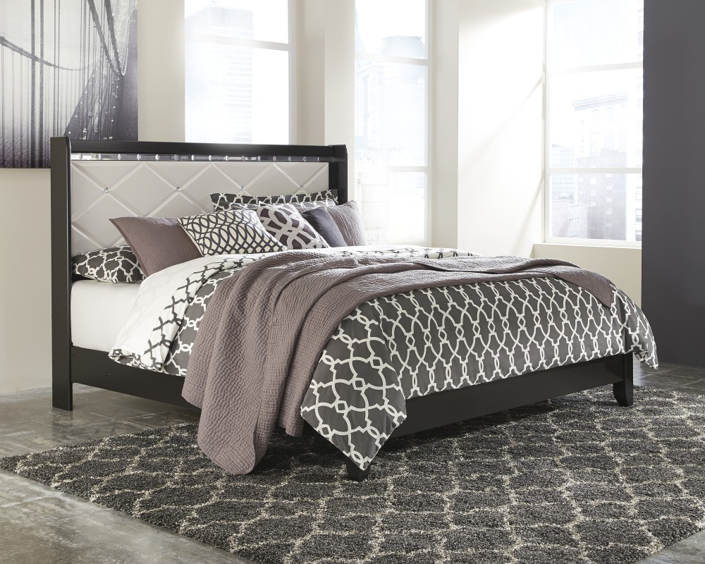 Fancee King Panel Bed