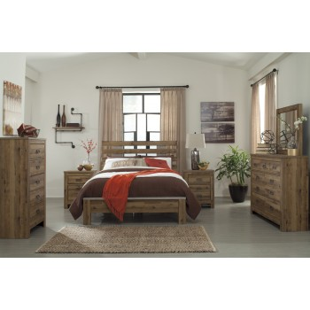 Cinrey 5 Pc Bedroom - Dresser, Mirror & Queen Panel Bed