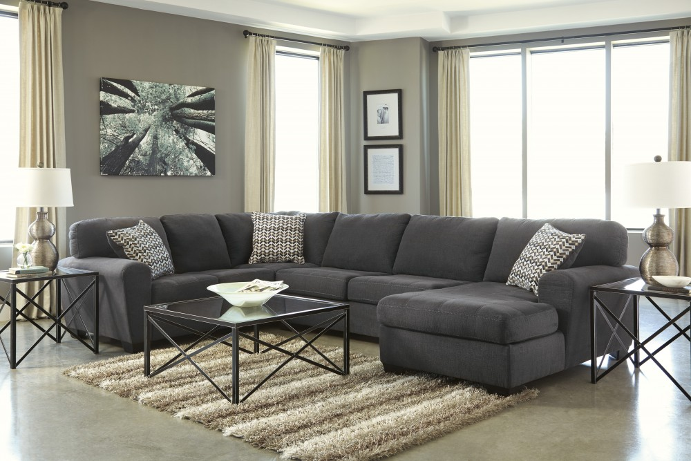 Sorenton - Slate 3 Pc LAF Sofa Sectional