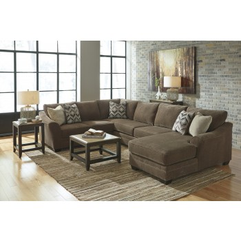 Justyna - Teak 3 Pc RAF Chaise Sectional