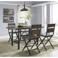 Kavara - RECT Dining Room Counter Table & 4 Barstools