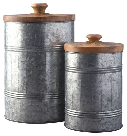 Divakar - Antique Gray - Jar Set (2/CN)