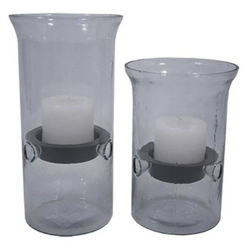 Kadeem - Clear - Candle Holder (Set of 2)