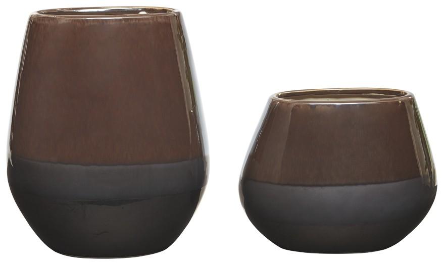 Emiliano - Taupe - Vase Set (2/CN)