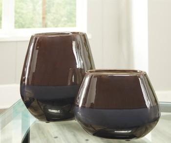 Emiliano Taupe Vase Set 2cn A2000185 Vases The Venice