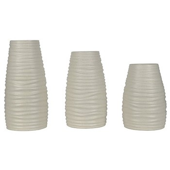 Kaemon - White - Vase (Set of 3)