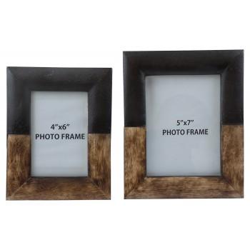 Michi - Bronze Finish/Wood - Photo Frame (Set of 2)