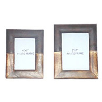 Michi - Bronze Finish/Wood - Photo Frame (Set of 2)
