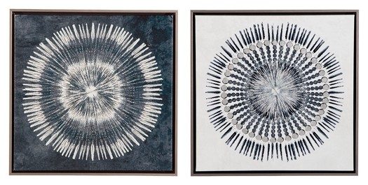 Monterey - Blue/White - Wall Art Set (2/CN)