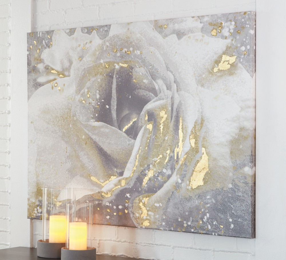 Elowen Whitesilvergold Finish Wall Art A8000158 Wall Art
