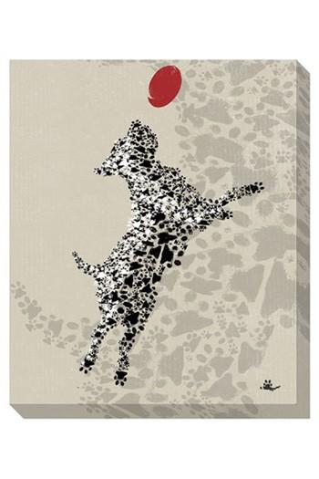 Berniss - Tan/Black/Red - Wall Art