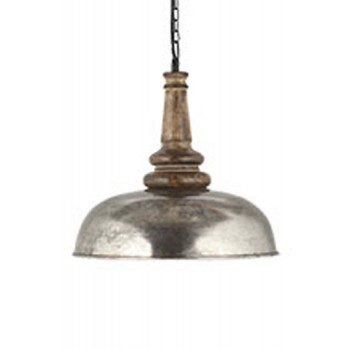 Joziah - Antique Silver Finish - Metal Pendant Light (1/CN)