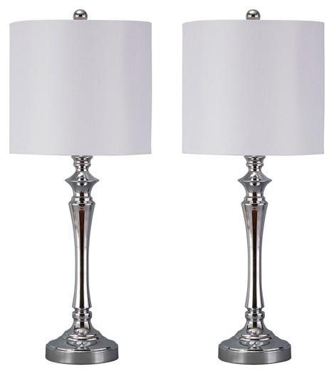 Taji - Chrome Finish - Metal Table Lamp (2/CN)