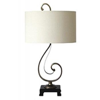 Tahir - Antique Silver Finish - Metal Table Lamp (1/CN)