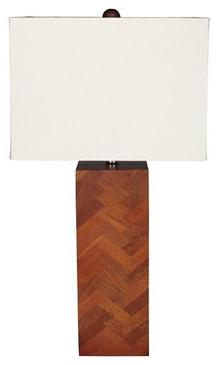 Tabeal - Brown - Wood Table Lamp (1/CN)