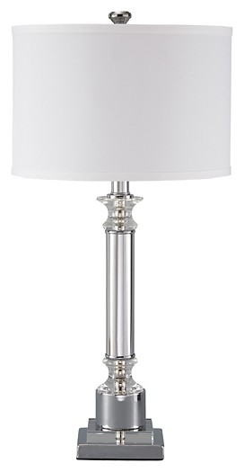 Marlon - Clear/Silver Finish - Metal Table Lamp (1/CN)