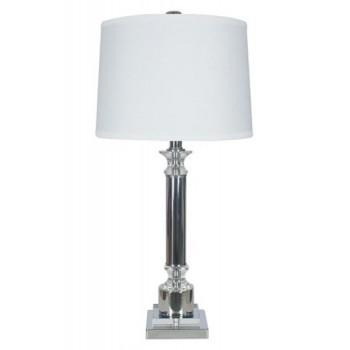 Marlon - Clear/Silver Finish - Metal Table Lamp (1/CN)