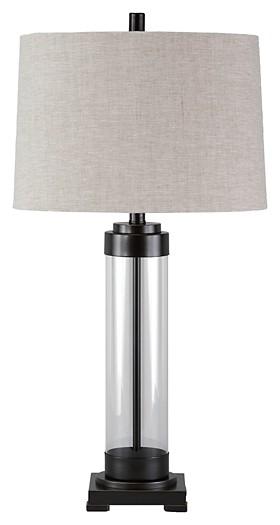 Talar - Clear/Bronze Finish - Glass Table Lamp (1/CN)