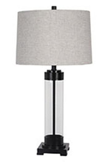 Talar clear bronze finish glass table lamp 1 cn