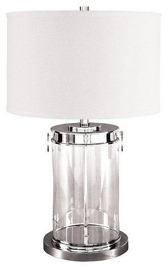 Tailynn Clear Silver Finish Glass Table Lamp 1 Cn L430244