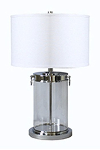 Tailynn   Clear/Silver Finish   Glass Table Lamp (1/CN)