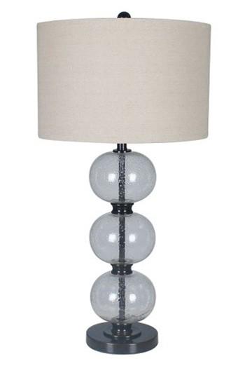 Maleko Clear Bronze Finish Glass Table Lamp 1 Cn L430314